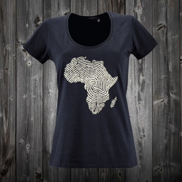camiseta con mapa de africa